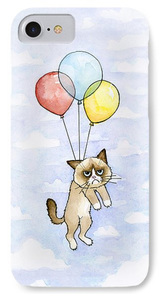Grumpy Cat And Balloons IPhone 7 Case