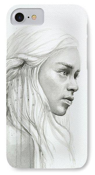 Dragon iPhone 7 Case - Daenerys Mother Of Dragons by Olga Shvartsur