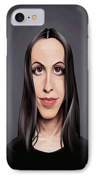 Celebrity Sunday - Alanis Morissette IPhone Case by Rob Snow
