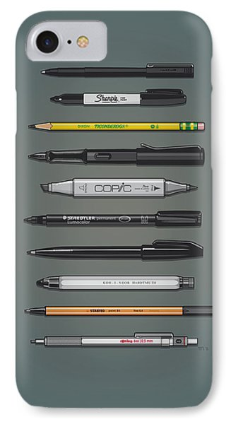 Pen Collection For Sketching And Drawing II IPhone Case