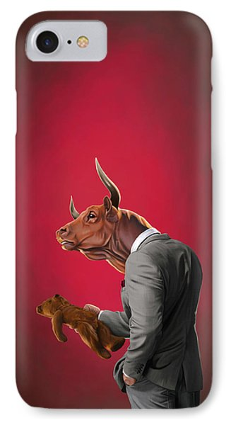 Bull IPhone Case by Rob Snow