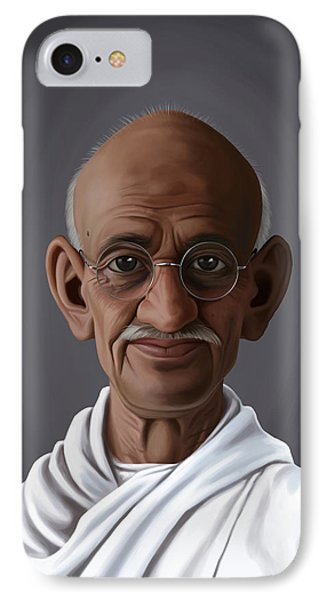 Celebrity Sunday - Mahatma Gandhi IPhone Case by Rob Snow