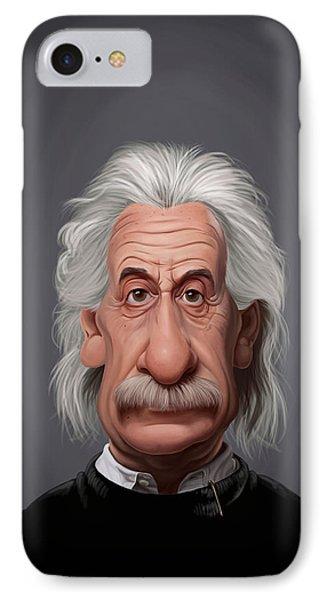 Celebrity Sunday - Albert Einstein IPhone Case by Rob Snow