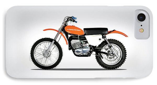 Harley Davidson Mx-250 IPhone Case by Mark Rogan