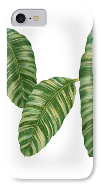 Rainforest Resort - Tropical Banana Leaf  IPhone Case
