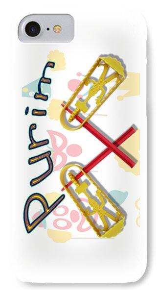 Happy Joyous Purim  IPhone Case by Humorous Quotes