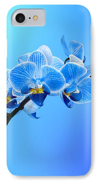 Orchid Blue IPhone Case by Mark Rogan