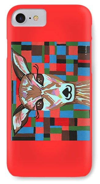 IPhone Case featuring the painting Darling Deer by Kathleen Sartoris