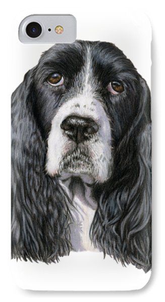 The Springer Spaniel IPhone Case by Sarah Batalka