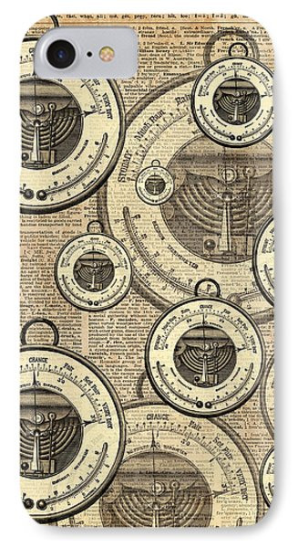 Barometer Vintage Tool Dictionary Art IPhone Case by Jacob Kuch