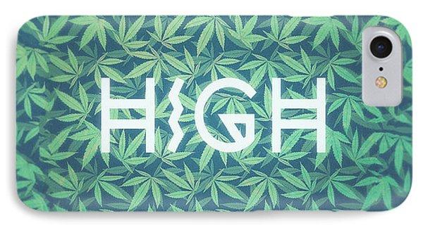 High Typo  Cannabis   Hemp  420  Marijuana   Pattern IPhone Case by Philipp Rietz