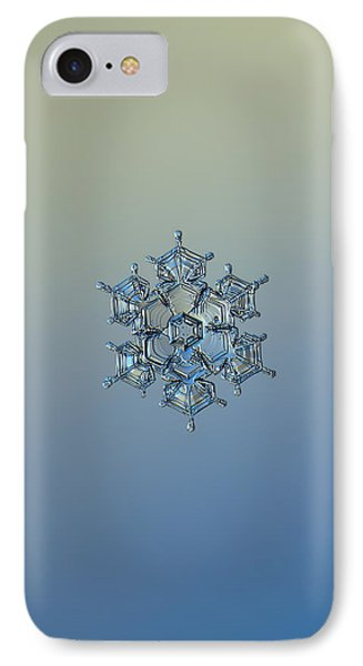 IPhone Case featuring the photograph Snowflake Photo - Flying Castle Alternate by Alexey Kljatov