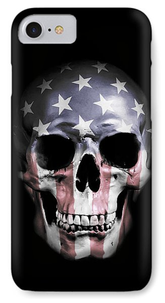 American Skull IPhone Case by Nicklas Gustafsson