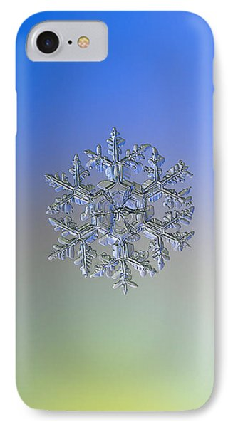 IPhone Case featuring the photograph Snowflake Photo - Gardener's Dream Alternate by Alexey Kljatov
