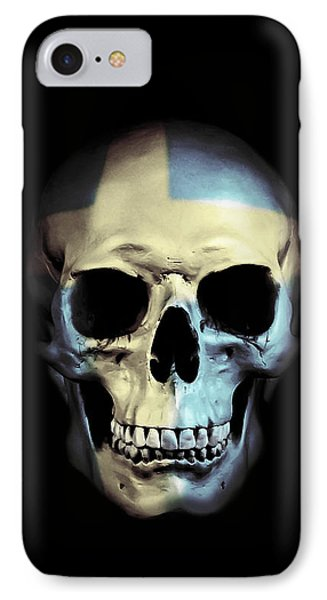 Swedish Skull IPhone Case by Nicklas Gustafsson