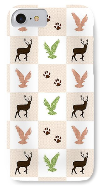 Rustic Wildlife Pattern IPhone Case by Christina Rollo