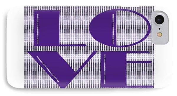 Love In Purple IPhone Case