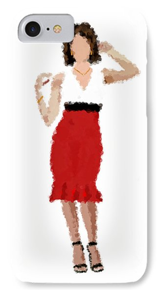IPhone Case featuring the digital art Ruby by Nancy Levan