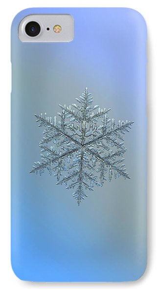 IPhone Case featuring the photograph Snowflake Photo - Majestic Crystal by Alexey Kljatov