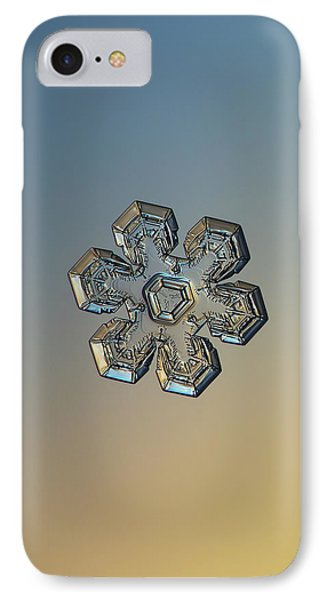 IPhone Case featuring the photograph Snowflake Photo - Massive Gold by Alexey Kljatov