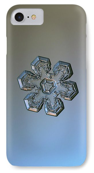 IPhone Case featuring the photograph Snowflake Photo - Massive Silver by Alexey Kljatov