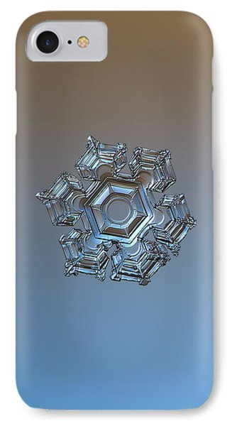 Snowflake Photo - Cold Metal IPhone Case