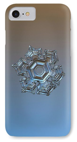 IPhone Case featuring the photograph Snowflake Photo - Cold Metal by Alexey Kljatov