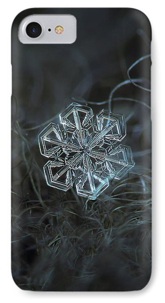 IPhone Case featuring the photograph Snowflake Photo - Alcor by Alexey Kljatov