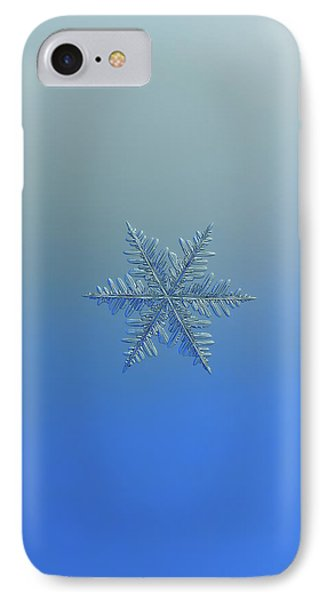 IPhone Case featuring the photograph Snowflake Photo - Winter Is Coming by Alexey Kljatov