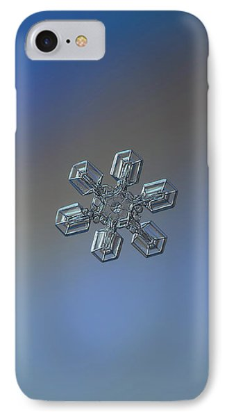 IPhone Case featuring the photograph Snowflake Photo - High Voltage by Alexey Kljatov
