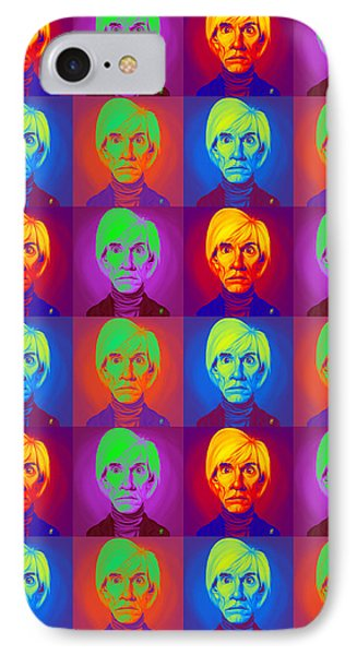 Andy Warhol On Andy Warhol IPhone Case by Rob Snow