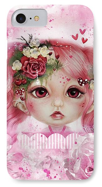 IPhone Case featuring the drawing Rosie Valentine - Munchkinz Collection  by Sheena Pike