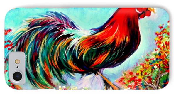 IPhone Case featuring the painting Rooster/gallito by Yolanda Rodriguez