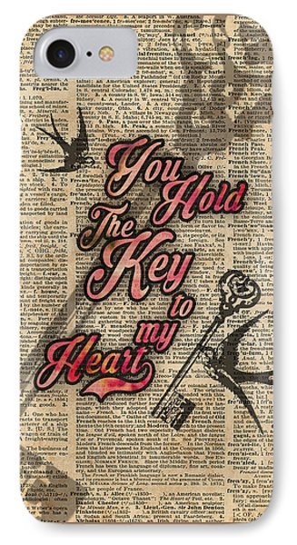 Key To My Heart Dictionary Art IPhone Case