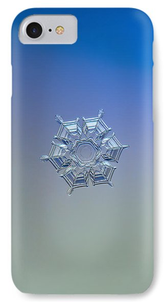IPhone Case featuring the photograph Snowflake Photo - Ice Relief by Alexey Kljatov