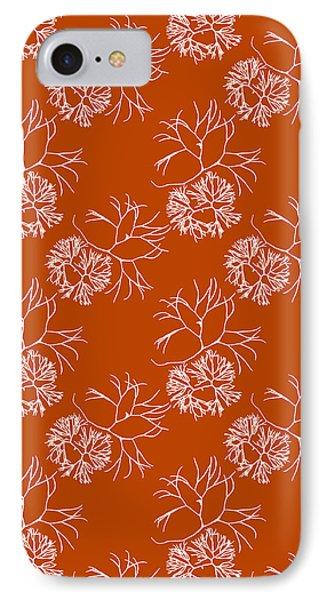 Orange Seaweed Marine Art Furcellaria Fastigiata IPhone Case by Christina Rollo