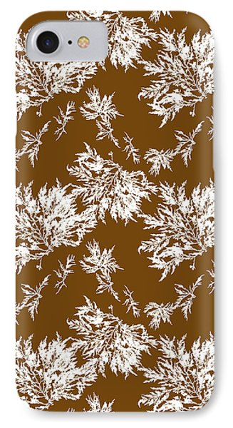 Brown Seaweed Marine Art Chylocladia Clavellosa IPhone Case by Christina Rollo