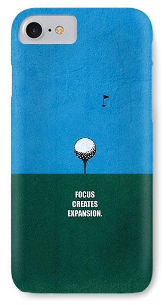 Focus Creates Expansion Corporate Start-up Quotes Poster IPhone Case