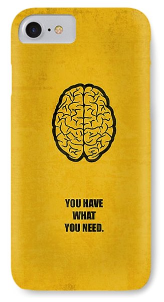 You Have What You Need Corporate Start-up Quotes Poster IPhone Case