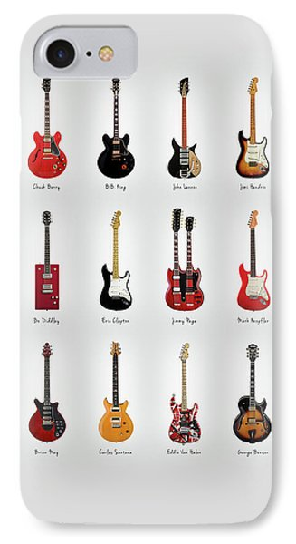 Rock And Roll iPhone 7 Case - Guitar Icons No1 by Mark Rogan