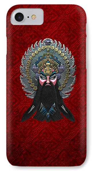 Chinese Masks - Large Masks Series - The Emperor Phone Case by Serge Averbukh
