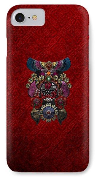 Chinese Masks - Large Masks Series - The Demon Phone Case by Serge Averbukh
