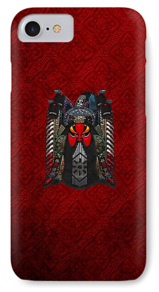 Chinese Masks - Large Masks Series - The Red Face Phone Case by Serge Averbukh