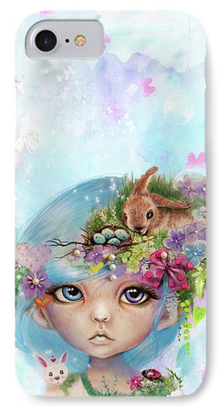 IPhone Case featuring the drawing Eliza - Easter Elf - Munhkinz Character by Sheena Pike