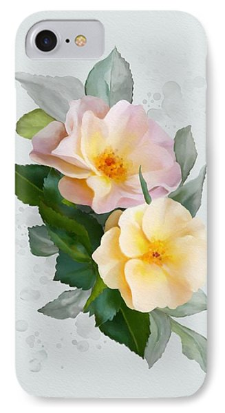 Two Wild Roses IPhone Case by Ivana Westin