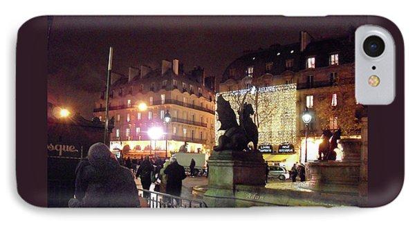 Place Saint-michel IPhone Case by Felipe Adan Lerma