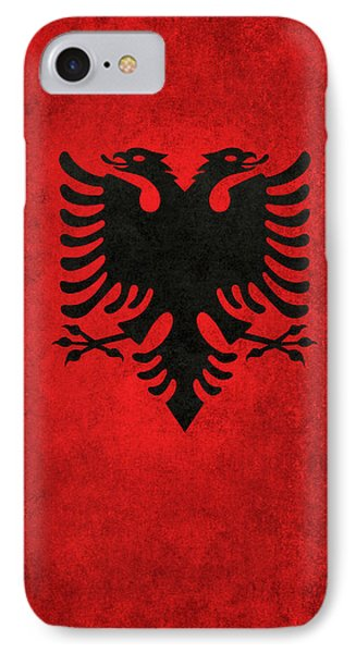 IPhone Case featuring the digital art National Flag Of Albania With Distressed Vintage Treatment  by Bruce Stanfield