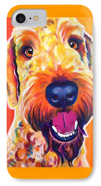 Airedoodle - Hank IPhone Case by Alicia VanNoy Call