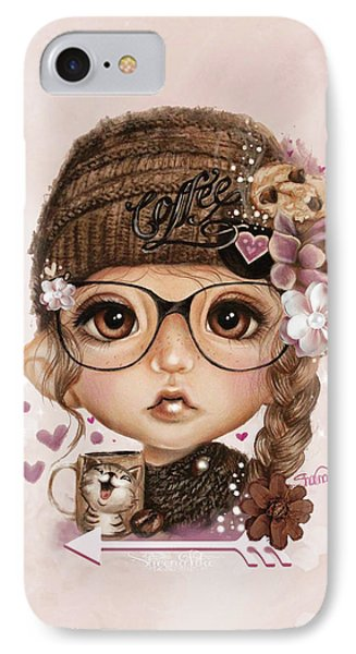 IPhone Case featuring the drawing Java Joanna by Sheena Pike