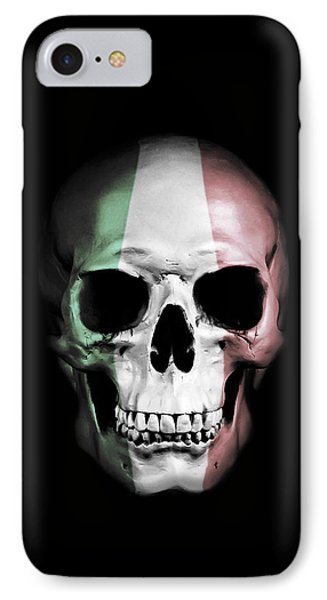 IPhone Case featuring the digital art Italian Skull by Nicklas Gustafsson